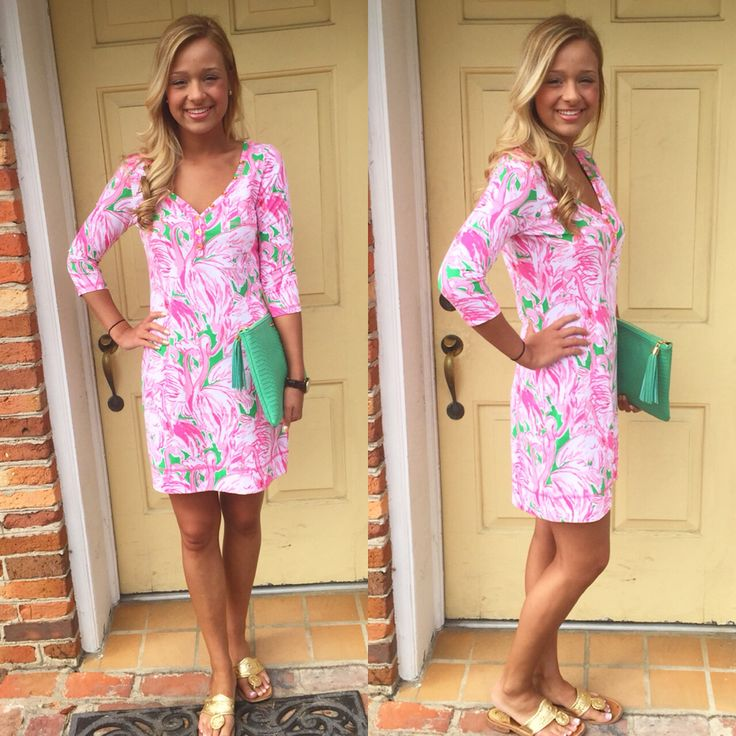 Lilly Pulitzer Palmetto Dress in Pink Colony with our Gigi New York Uber Clutch Call to order 910-483-0733