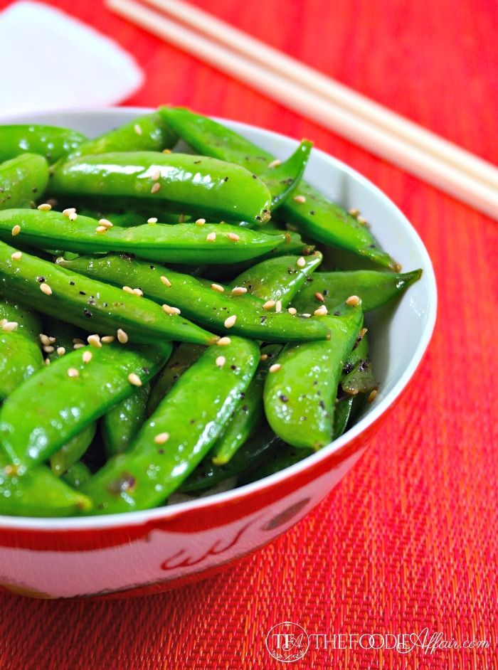 This stir-fry recipe only takes 5 minutes to cook bright green, tender Perfectly Seasoned Sugar Snap Peas! The Foodie Affair
