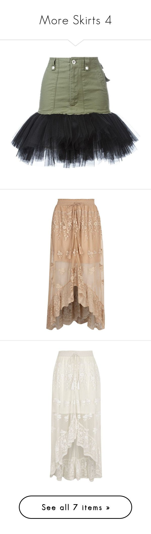 """""""More Skirts 4"""" by thesassystewart on Polyvore featuring skirts, green, tulle skirts, green skirt, green tulle skirt, beige, maxi skirts, women, high low maxi skirt and floor length skirt"""