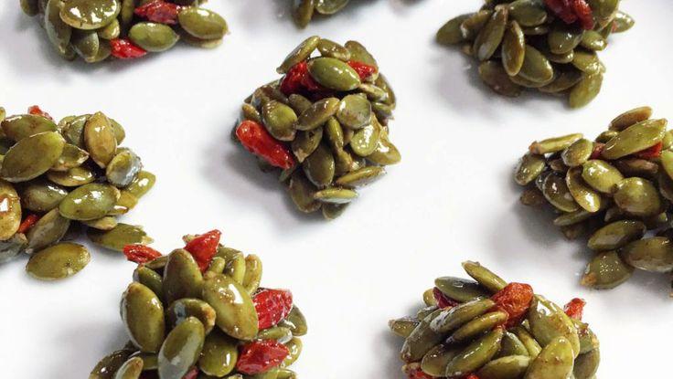 Pumpkin Seed Clusters #vegan #recipe #health #nutrition
