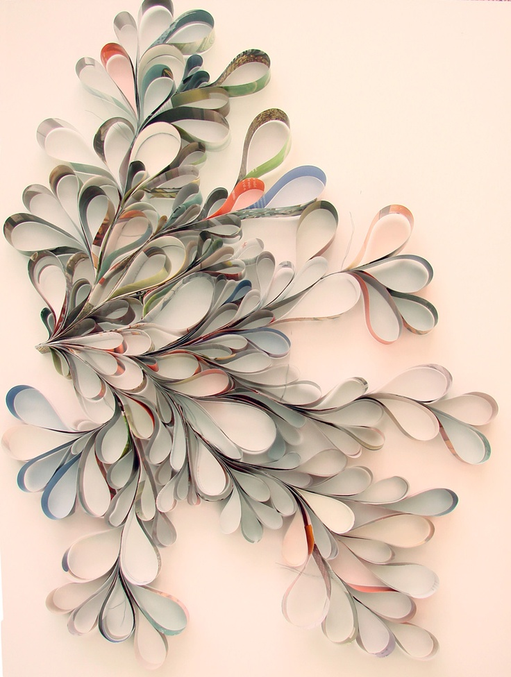 made with old book pages!