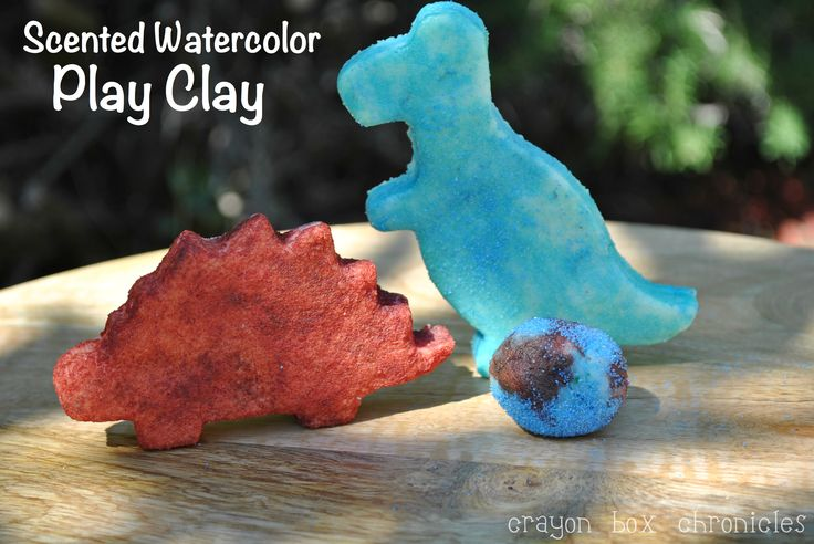 Scented Watercolor Play Clay {Cornstarch + Kool-Aid Craft} by Crayon Box Chronicles