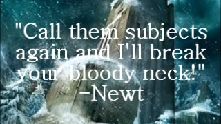 Newt OMG I MISS YOU WITH MY ENTIRE HEART AND NO-ONE WILL EVER UNDERSTAND MY PAIN NOT EVEN FELLOW FANGIRLS. . . . . . . . .