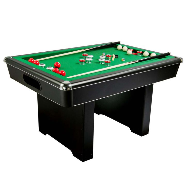 The Renegade slate bumper pool table offers outstanding durability and value. Comes with a genuine slate playing surface and tournament tested K-66 gum rubber cushions for solid and true table play. The table includes two 48 inch cues, 10 bumper pool balls, a table brush and chalk.  #billards #pooltable #gametable #gameroom #mancave #familyfun #recroom #basement #indoorfun #christmasgift #christmas