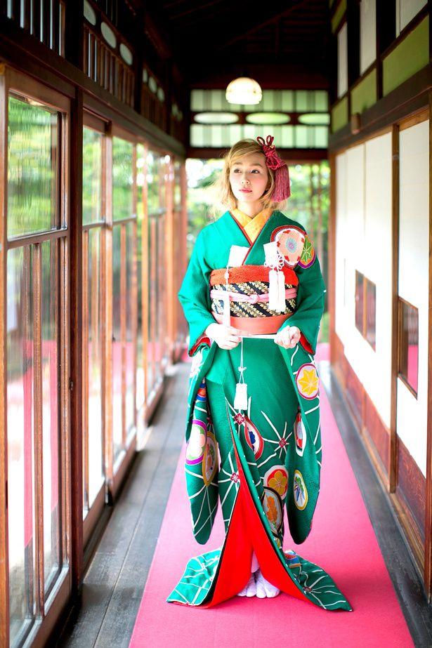 緑地麻ノ葉丸紋|くくる(CUCURU) 写真・フォトギャラリー|ザ・ウエディング