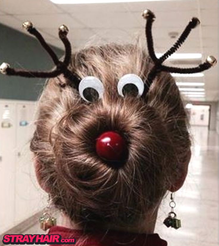 Teachers Rudolph The Red Nosed Reindeer Hairdo Super Cute