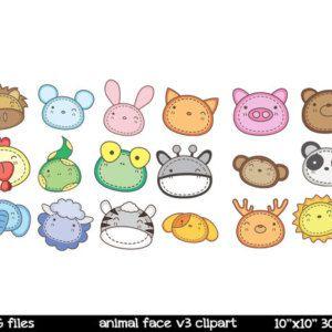 Farm Animal Clipart | Animal Faces Clipart | Farm Animal Faces Clipart | Frog Clipart | Panda Clipart | Cat Clipart | Cute Animal Face