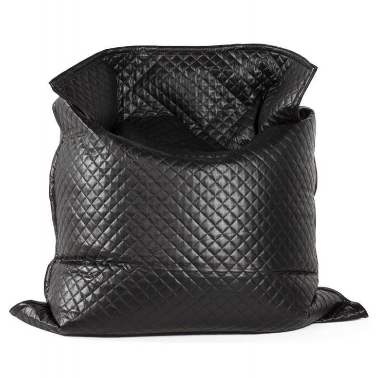 Ajoutez Du Style à La Déco Avec Ce Pouf Rectangulaire LILIAN En Textile  Polyurethane (noir) Souple Et Moelleux.