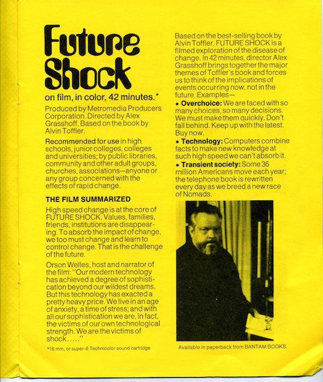 guide to Future Shock on film