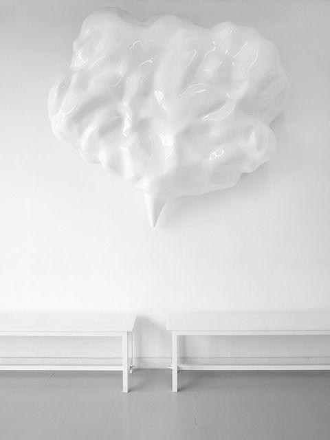 Jürgen Drescher, 'White speech bubble III,' 2012, Mai 36 Galerie