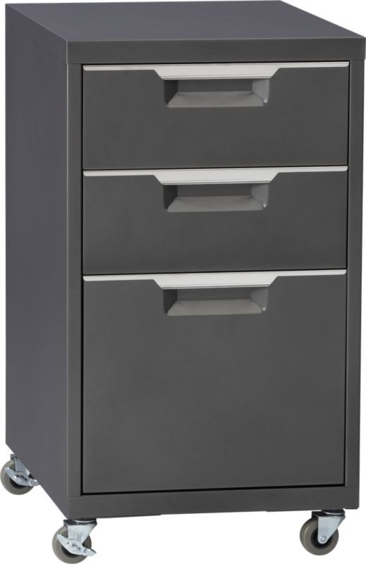 TPS carbon file cabinet in storage furniture | CB2
