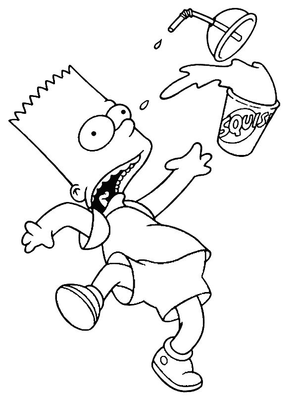Simpsons Coloring Page | Random | Pinterest | Coloring ...