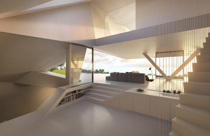 Casa futurista com fachada facetada e ambientes minimalistas! - Decor Salteado…