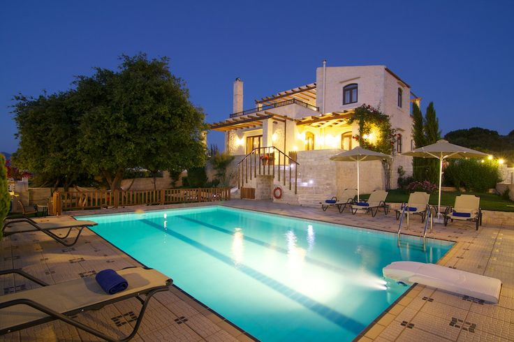 www.eleftherna.gr Villa Eleftherna Crete #villa #Crete #island #Greece #village #holidays #vacation_rental #luxury #private #summer_in_greece #visit_crete #pool