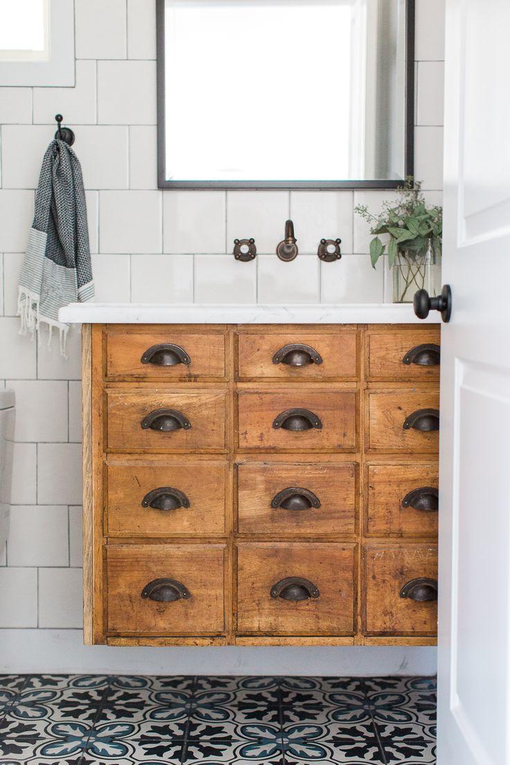 2203 best modern farmhouse images on pinterest home for Antique bathroom vanity ideas