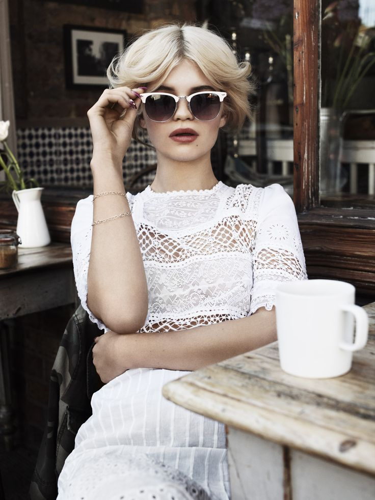 shades More LWren Scott, Pixie Geldof, Street Style, Vogue Uk, Scott Trindl, White Lace, Ray Ban Sunglasses, July Lace Dresses dustjacket attic white lace ...