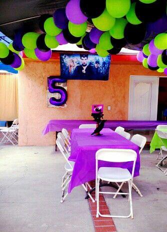 Maleficent birthday decorations