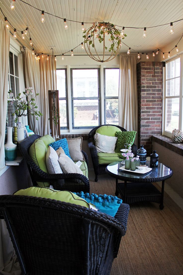 *Bachmans Ideas House Tours*   Enclosed porch decorating ... on Small Enclosed Patio Ideas id=47471