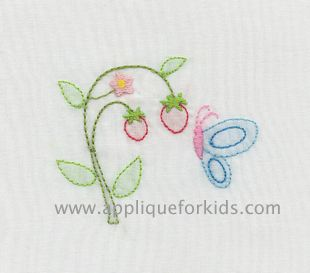 Easy shadow work by machine embroidery! Looks hand sewn.