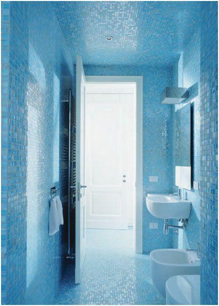 MosaicTiles.com.au   Light Blue Gloss GL07 Bisazza Mosaic Tiles, $5.99 (