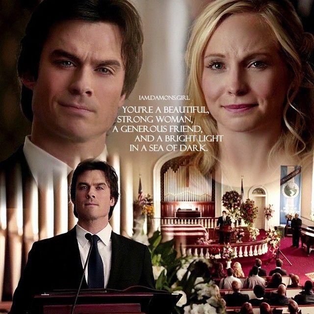 The vampire diaries / Damon Salvatore / Caroline