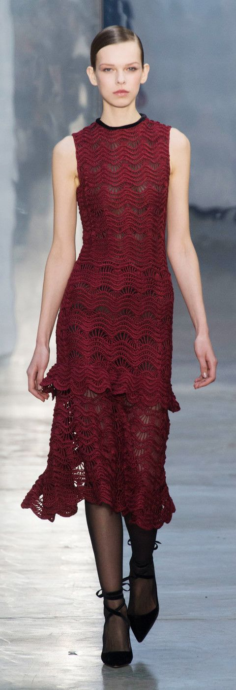 Carolina Herrera at New York Fashion Week Fall 2017 - Crochet Dress