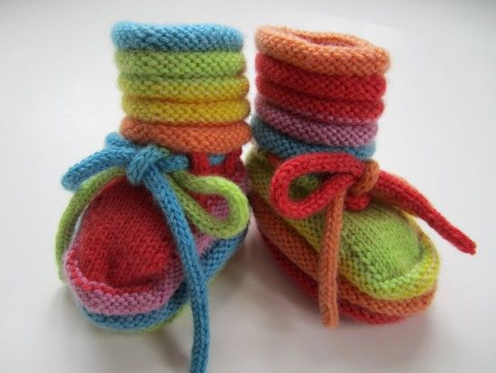 The Cutest Collection of Knitted Baby Booties   The WHOot