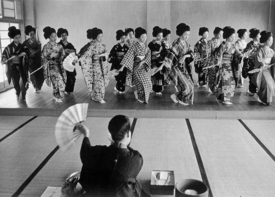 Geisha school, Kyoto, Japan. 1961. Photography by Rene Burri
