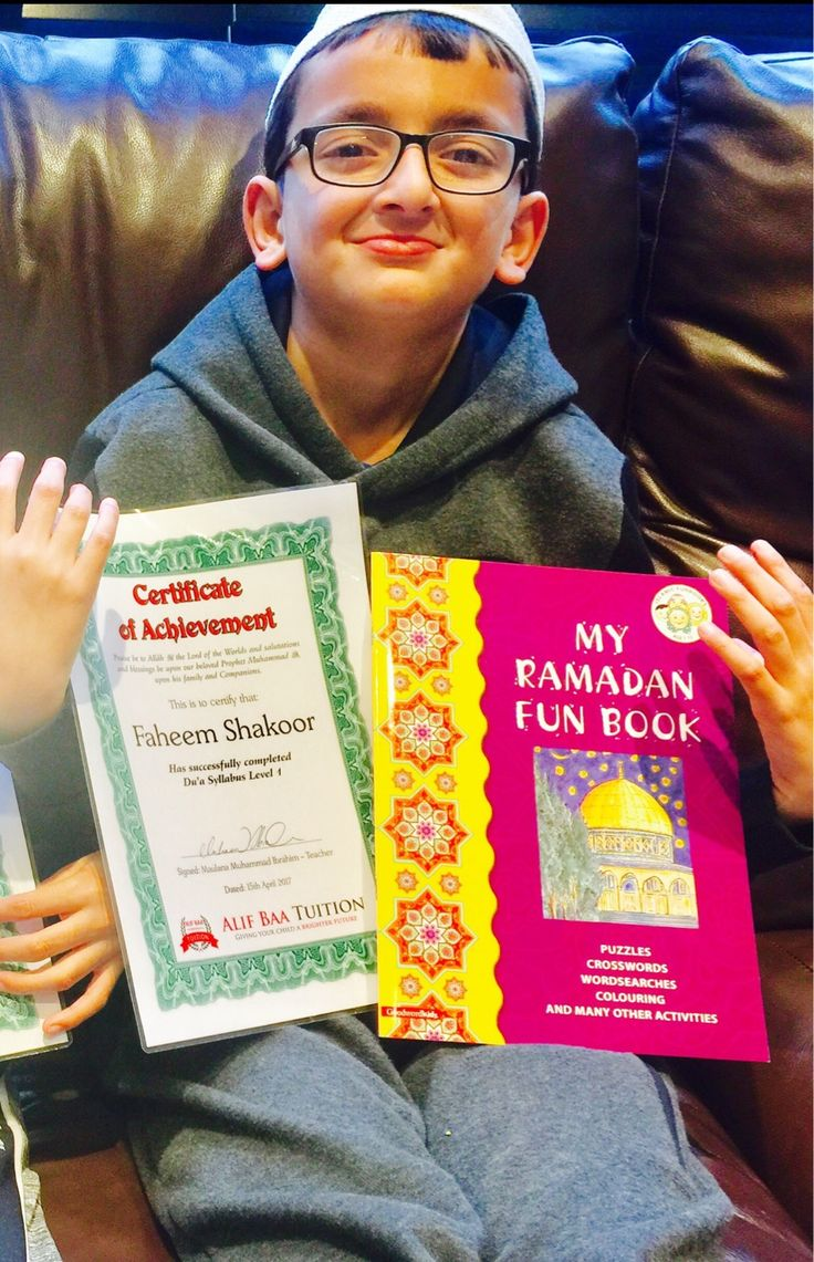 Masha #Allah #today was a day of #joy and #happiness for Faheem Shakoor. He has #successfully #memorised the #Dua #Syllabus #Level 1. He was awarded with a #certificate of #achievement and a beautiful #Gift. May Allah ﷻ accept his efforts and accept him for the #service of His #Deen. #Ameen.  In one Hadeeth the Holy Prophet ﷺ has mentioned supplication as the essence of worship.  By supplicating to Allah ﷻ a person fulfils his duty of calling upon Allah ﷻ, which is un