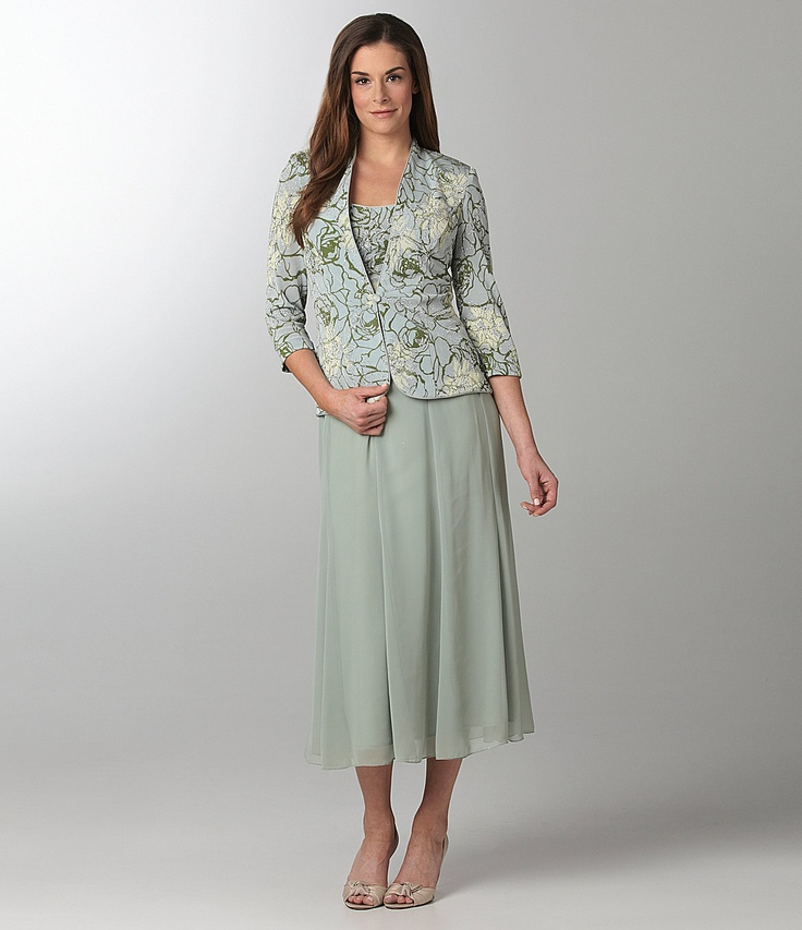 Alex Evenings Twin Set & Chiffon Skirt | Dillards.com