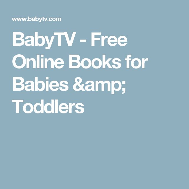 BabyTV - Free Online Books for Babies & Toddlers