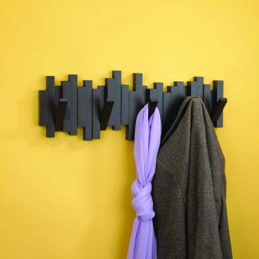 Umbra Sticks Wall-Mount Rack with Five Hooks, Black: Amazon.com