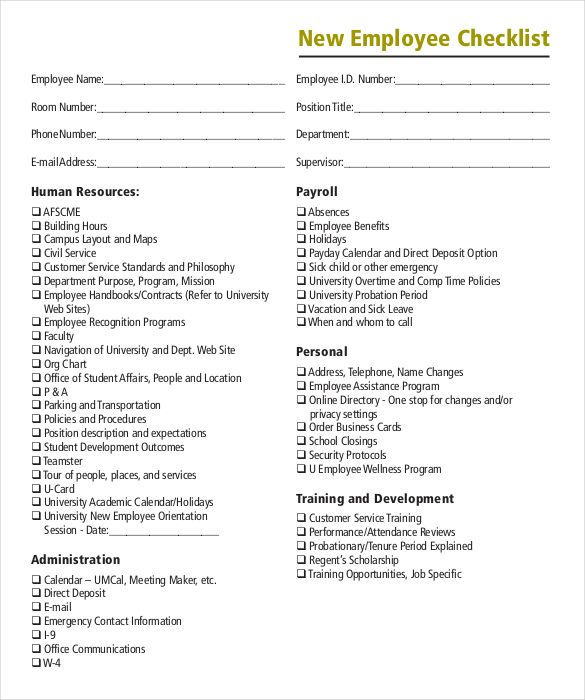 download onboarding checklist pdf format template checklist