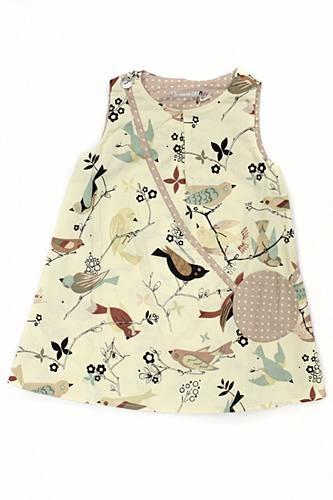Je Suies CP Bird Print Dress 2, girls summer dress