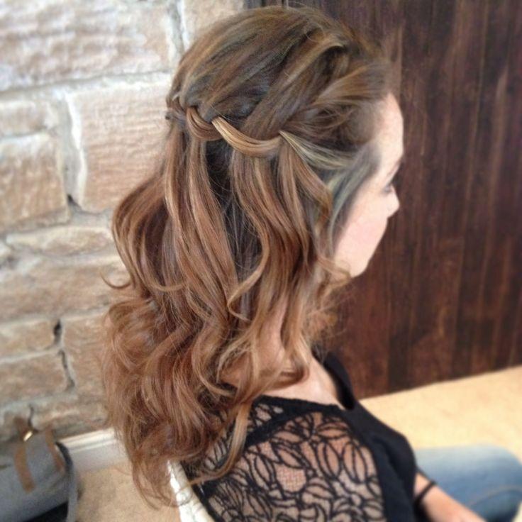 Wedding hair Newton Hall Northumberland Lisa Cameron  Bridal Plaits bridesmaid plait  bride braids  braid long waves