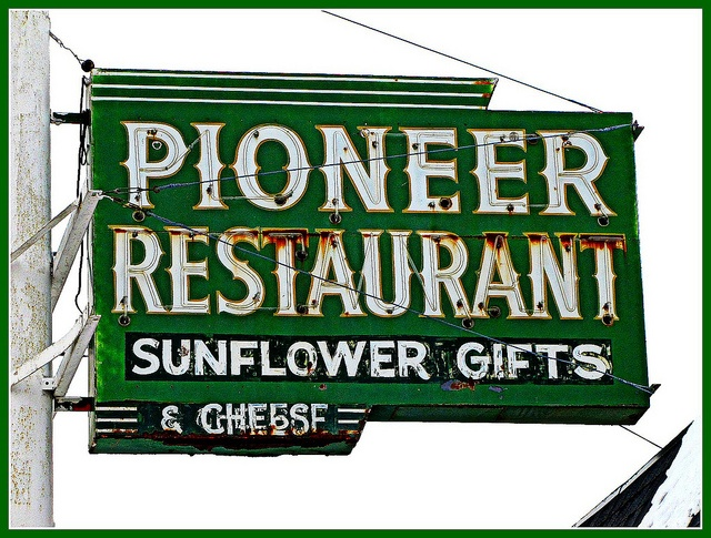 Pioneer Restaurant in Garnett, Kansas.