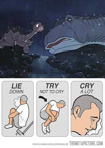 Every time I watch this scene in The Land Before Time…