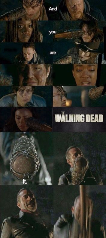 """The Walking Dead, Season 6, (finale) Episode 16, """"Last Day on Earth."""" Eeny, Meeny, Miny, Moe......."""