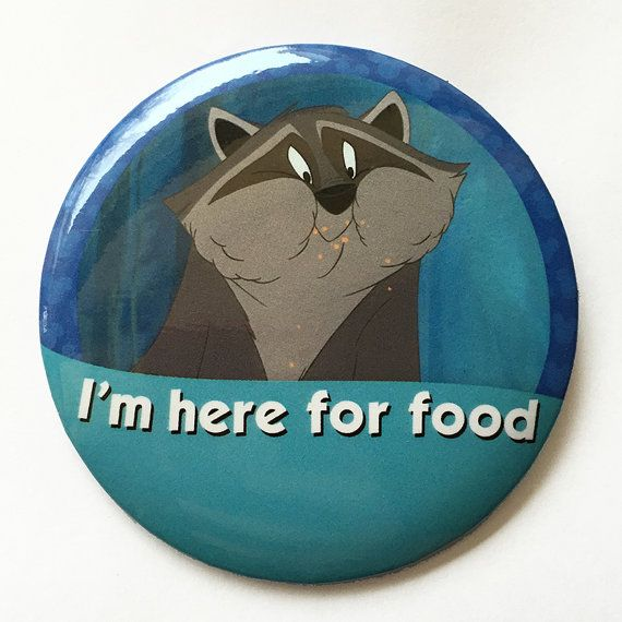 I'm here for food I'm Celebrating Button by parkbound on Etsy