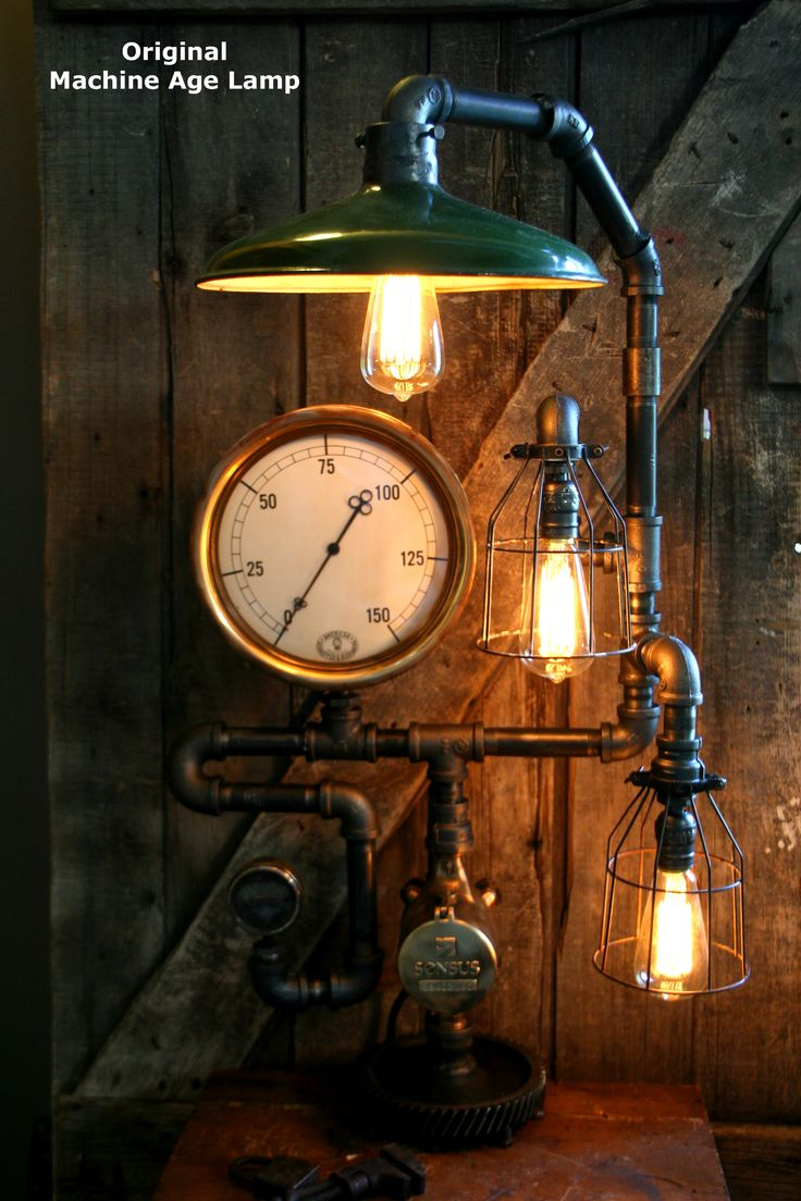 Welcome to the surreal steampunk apartment where jules verne meets tim - Steampunk Room Ideas Handmade Steampunk Lamps Made From Antique Salvaged Steam Gauges And