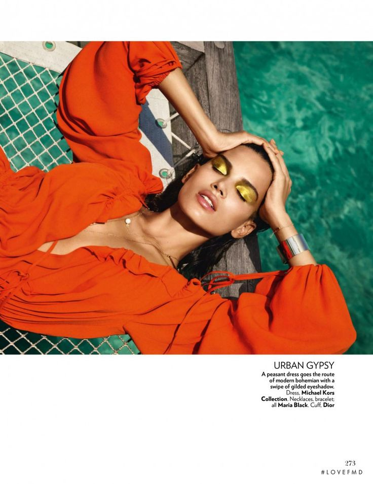 Orange Crush in Vogue India with Raica Oliveira wearing Christian Dior,Michael Kors,Maria Black Jewelery - Fashion Editorial | Magazines | The FMD #lovefmd