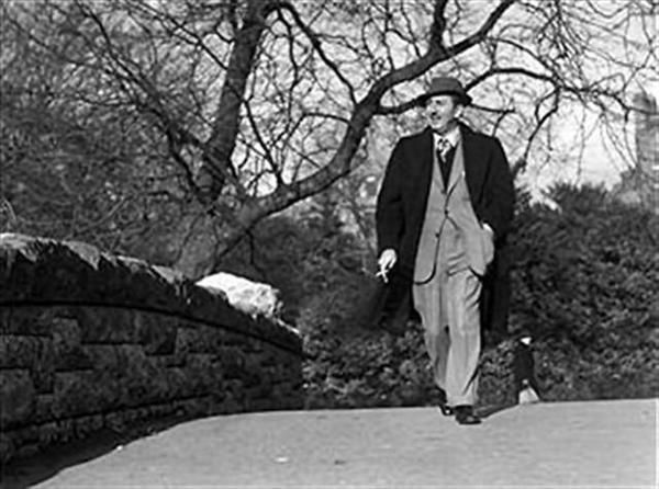 1959...Walt Disney walking in St. Stephens Green, while on a visit to Dublin for the Irish premier of Darby O'Gill and the Little People