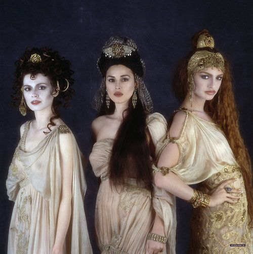 "The Brides of Dracula from ""Bram Stoker's Dracula"", 1993. I adore the aged and fragile look of the costumes and the Byzantine Eastern Influence. Inspired designing."