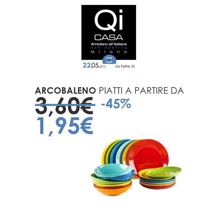 Piatti Arcobaleno, per colorare al meglio la tua tavola #qicasaMilano #viafeltre32