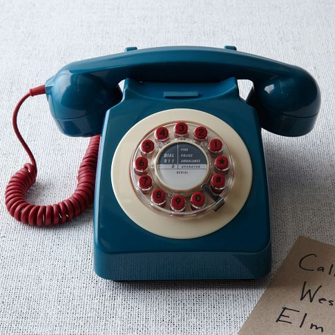 Retro 746 Blue Phone from west elm Market
