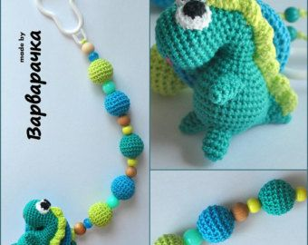 Pacifier chain clip Dummy holder keeper personalized with