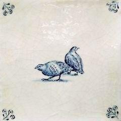 English partridge delft tile