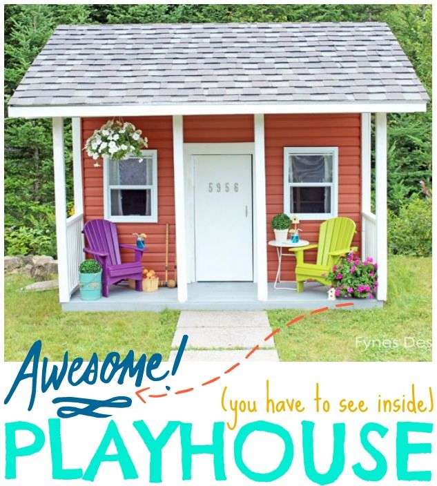 Kids Playhouse Ribbon Cutting Ceremony- has the cutest little loft area, you have to see it!