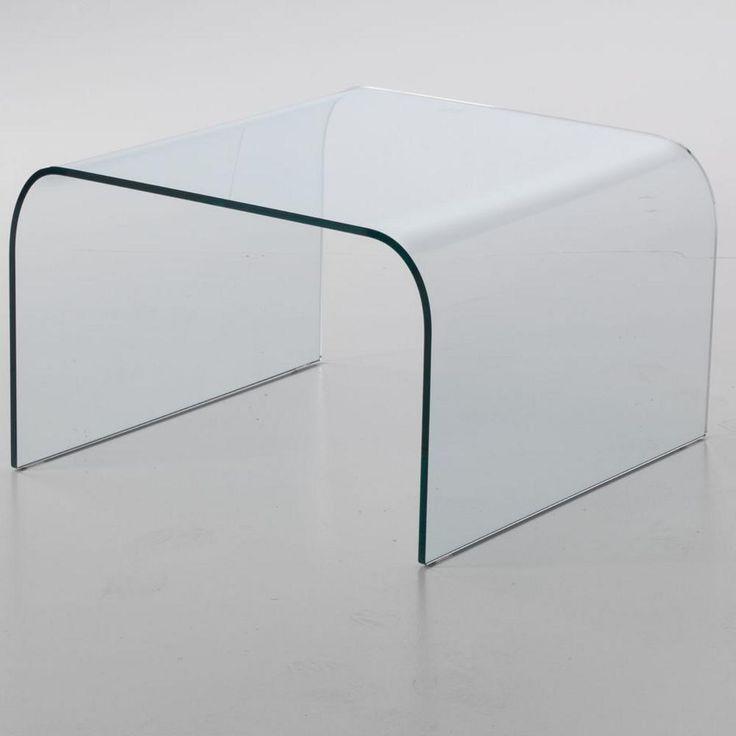 Tavolinetto da Caffe in Vetro curvato PONTE 60x60xh38 cm spessore 10 mm trasparente | Stilcasa-new | Stilcasa.Net: tavolini da salotto