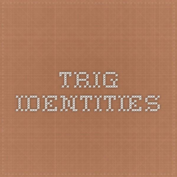 best trigonometry images trigonometry teaching trig identities